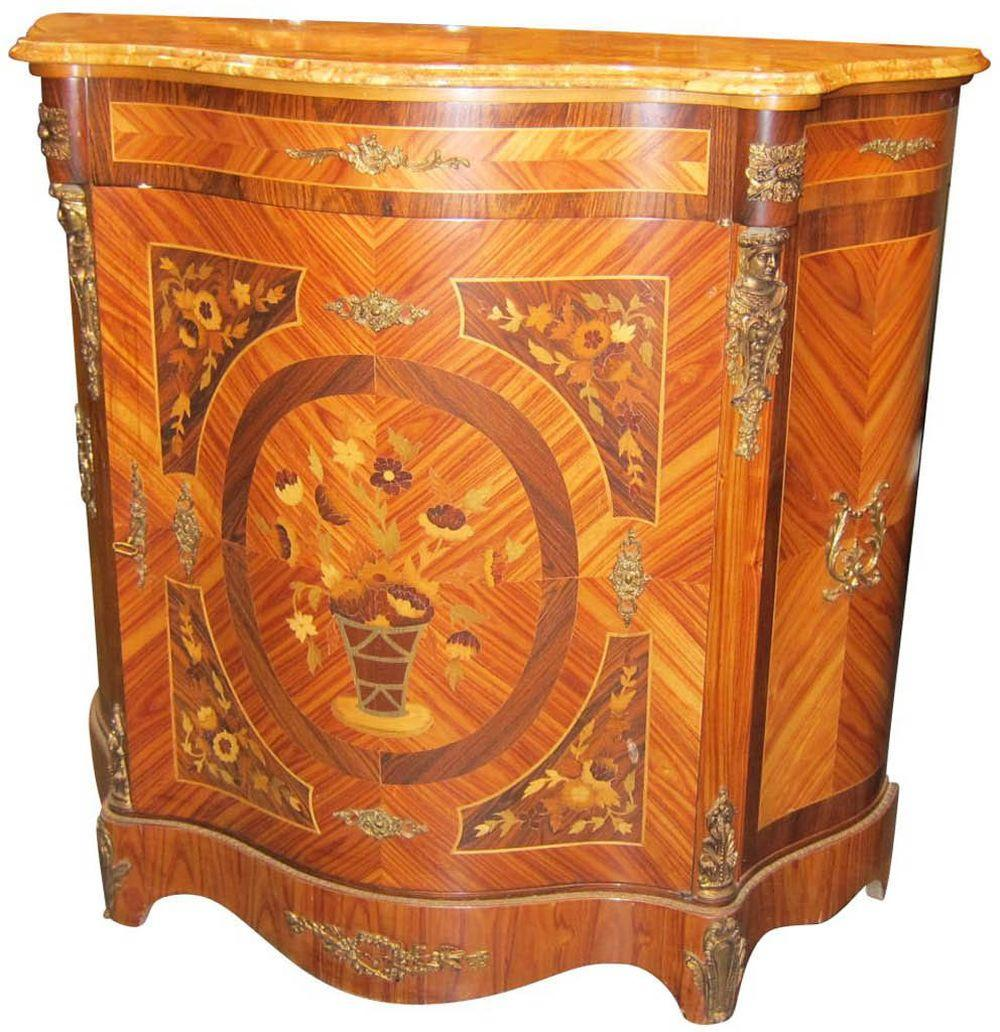 European inlaid console
