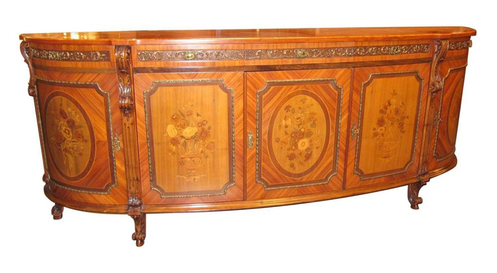 Louis XV-style inlaid buffet