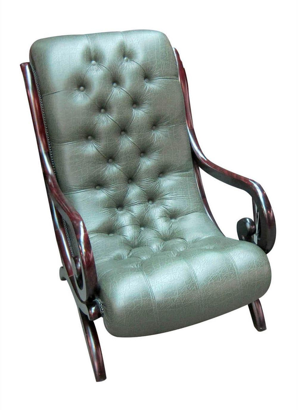 Art Deco-style leather armchair