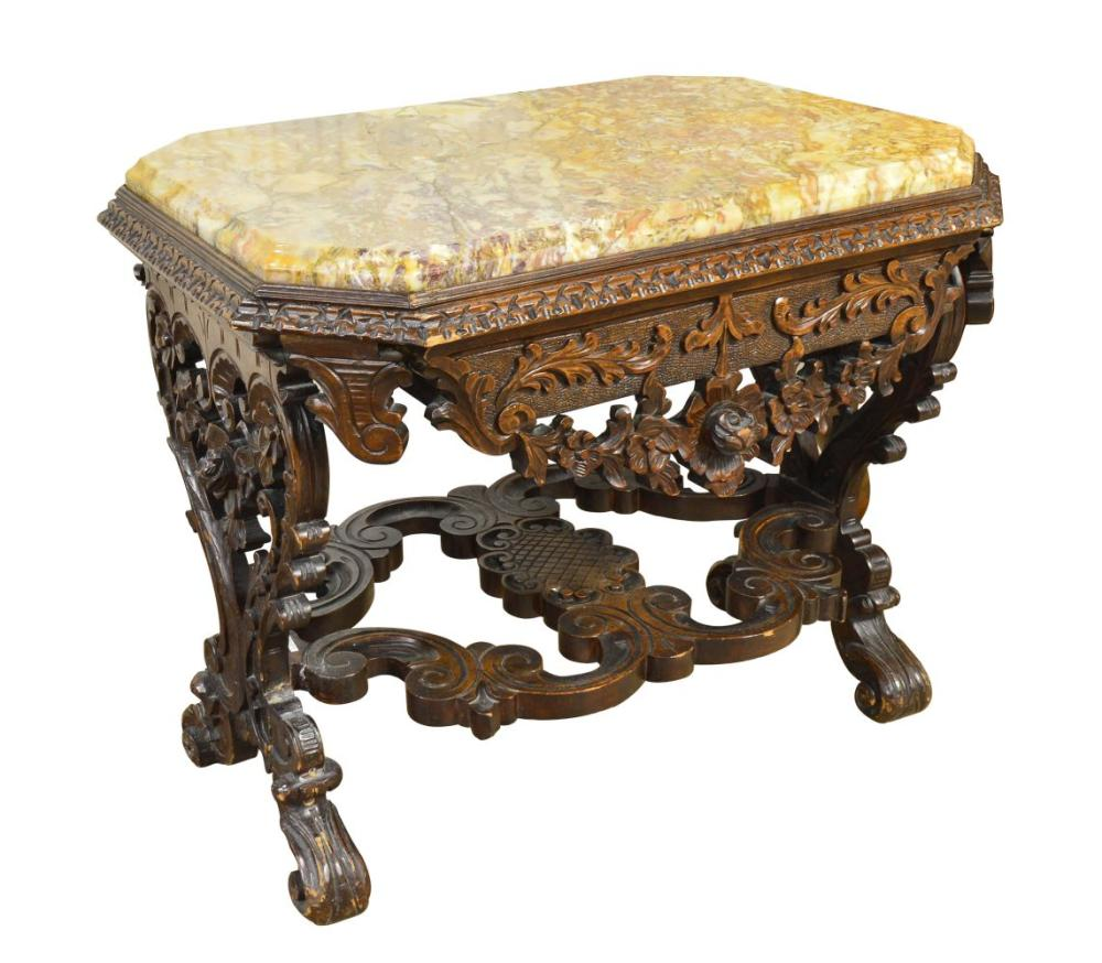 Antique Rococo-style salon table