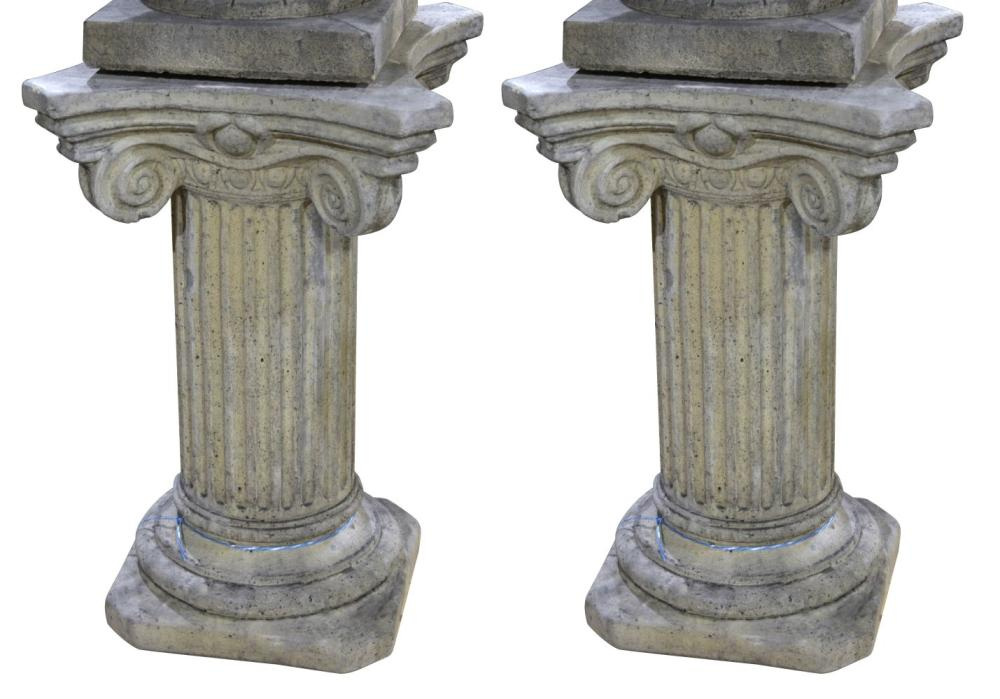 Pair of stone pedestals