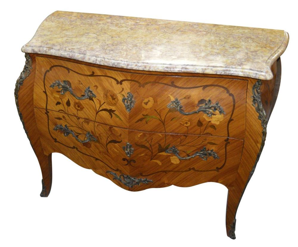 Marble-top commode