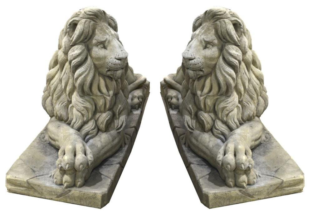 Pair of stone sculptures
