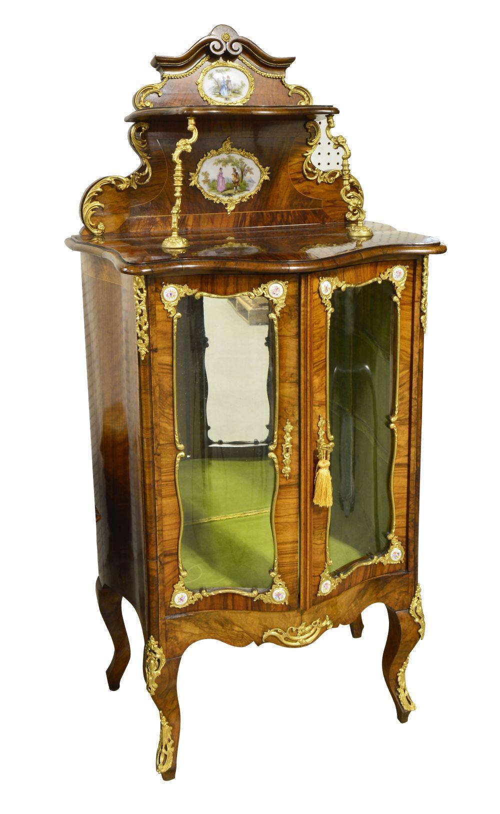 Small burlwood vitrine