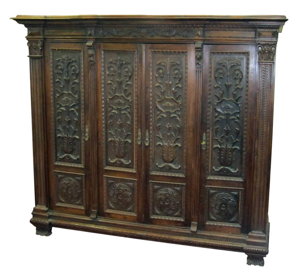 Antique Italian oak cabinet