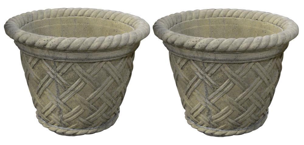 Pair of stone jardinières