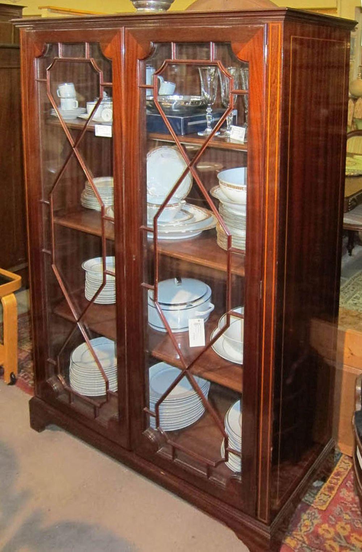 Sheraton-style mahogany china cabinet