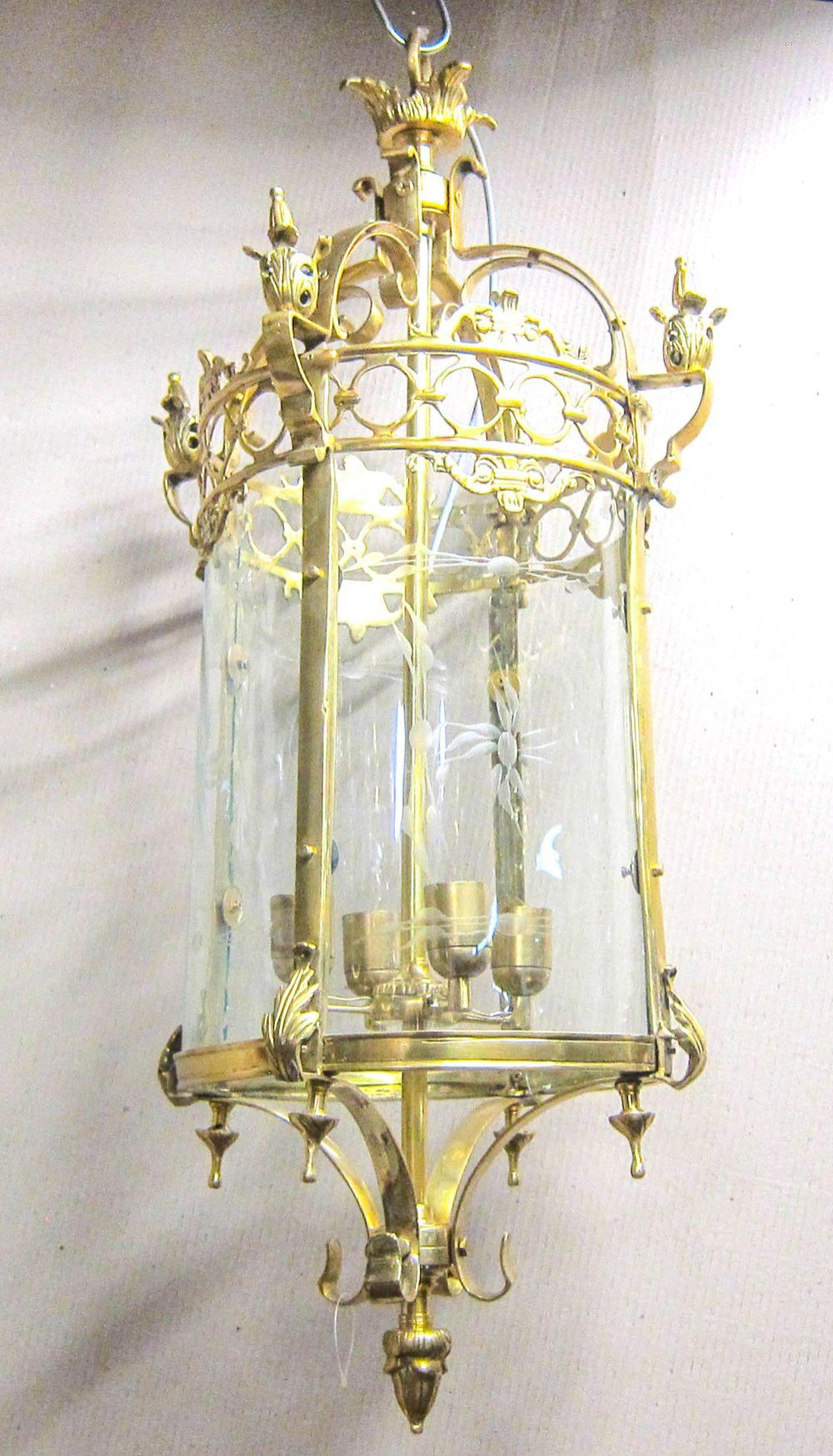 Gilt bronze hanging fixture