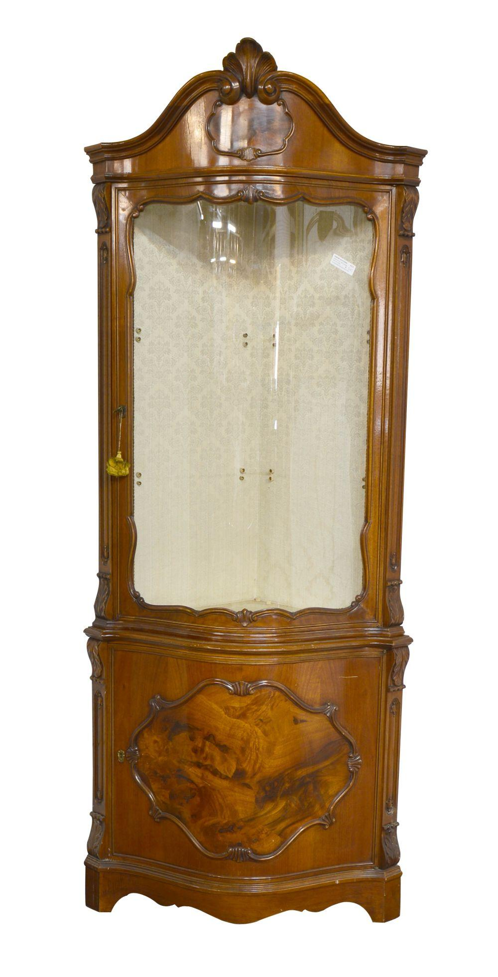Louis XV-style corner cabinet
