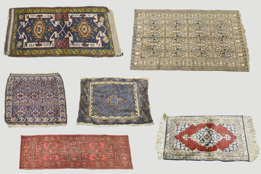 6 Persian tribal rugs
