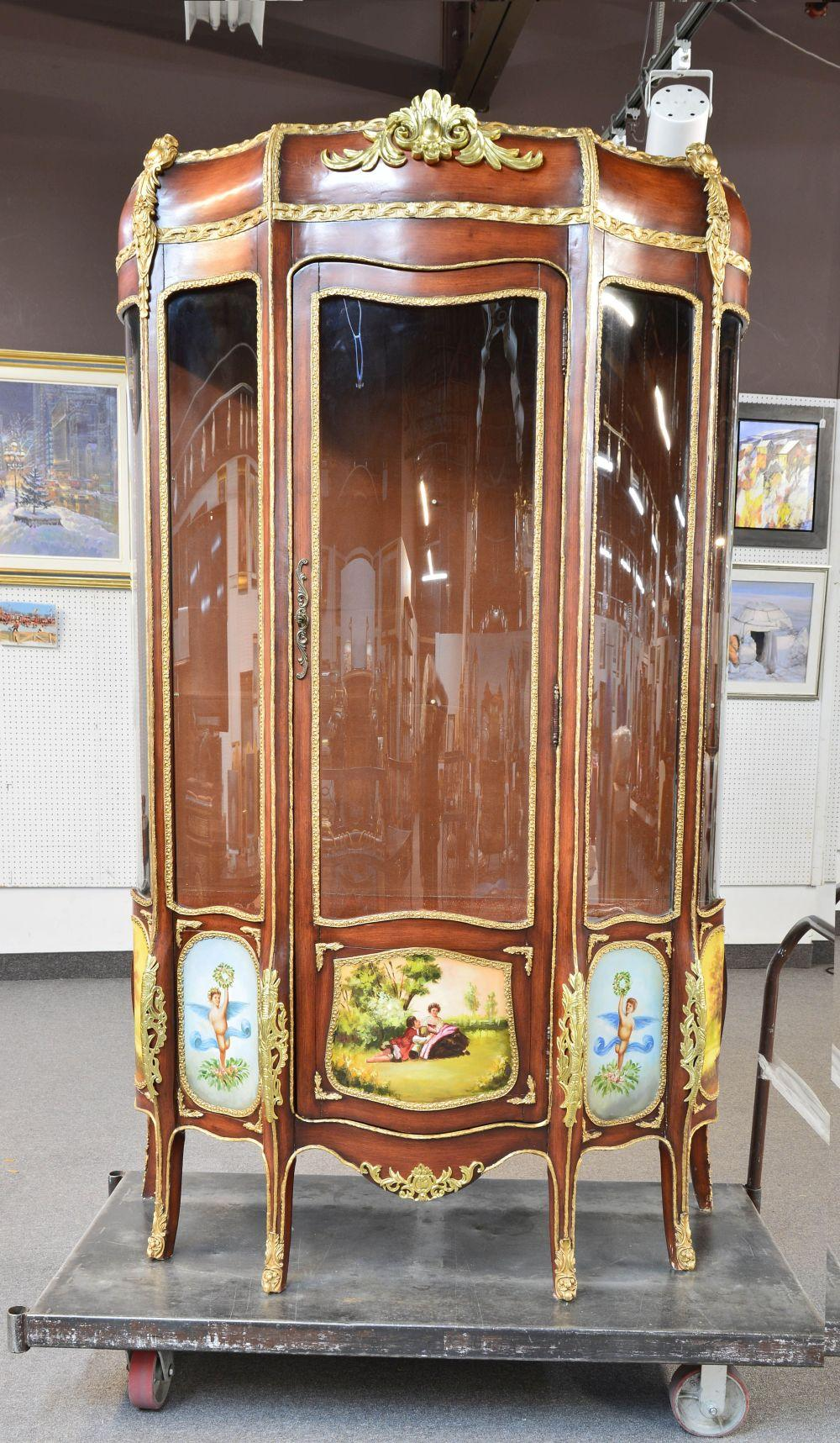 Large hand-painted vitrine