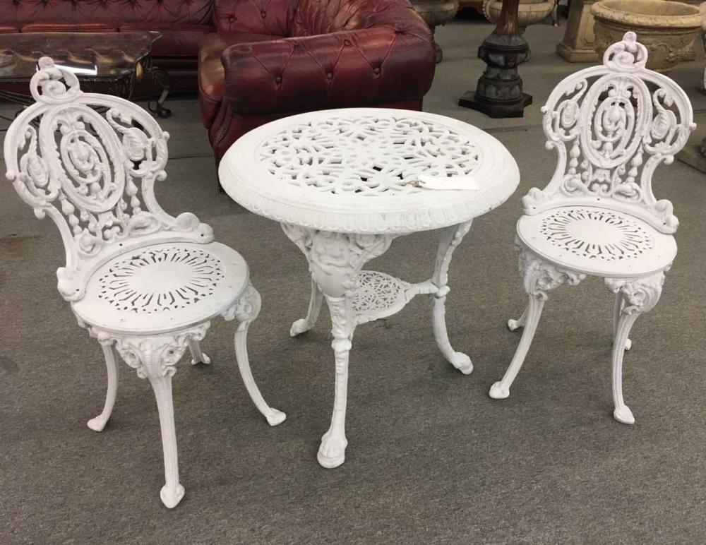 3 piece cast iron patio bistro set