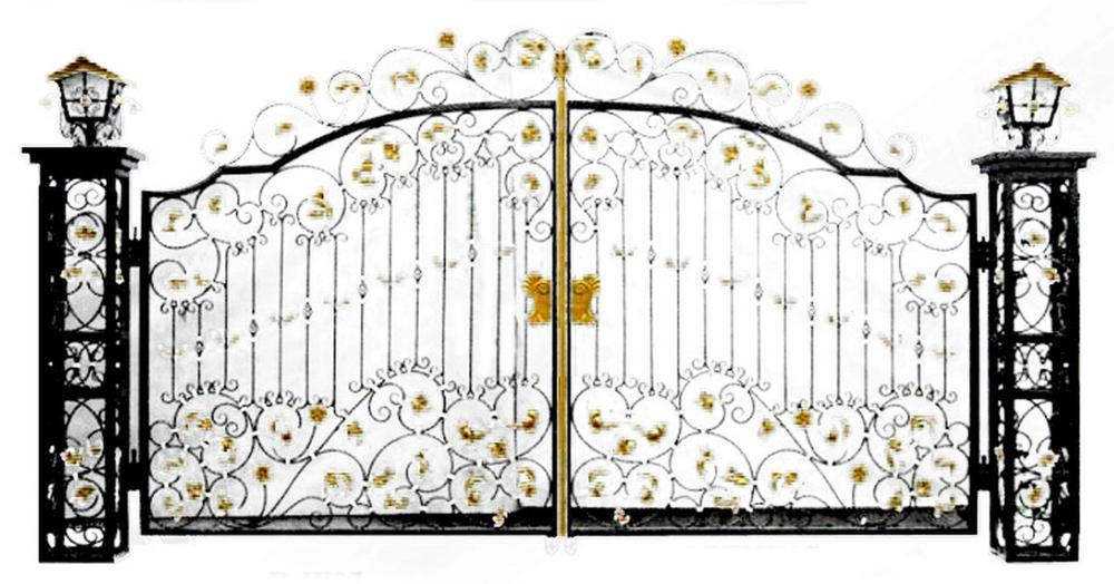 Art Nouveau inspiration cast iron gate