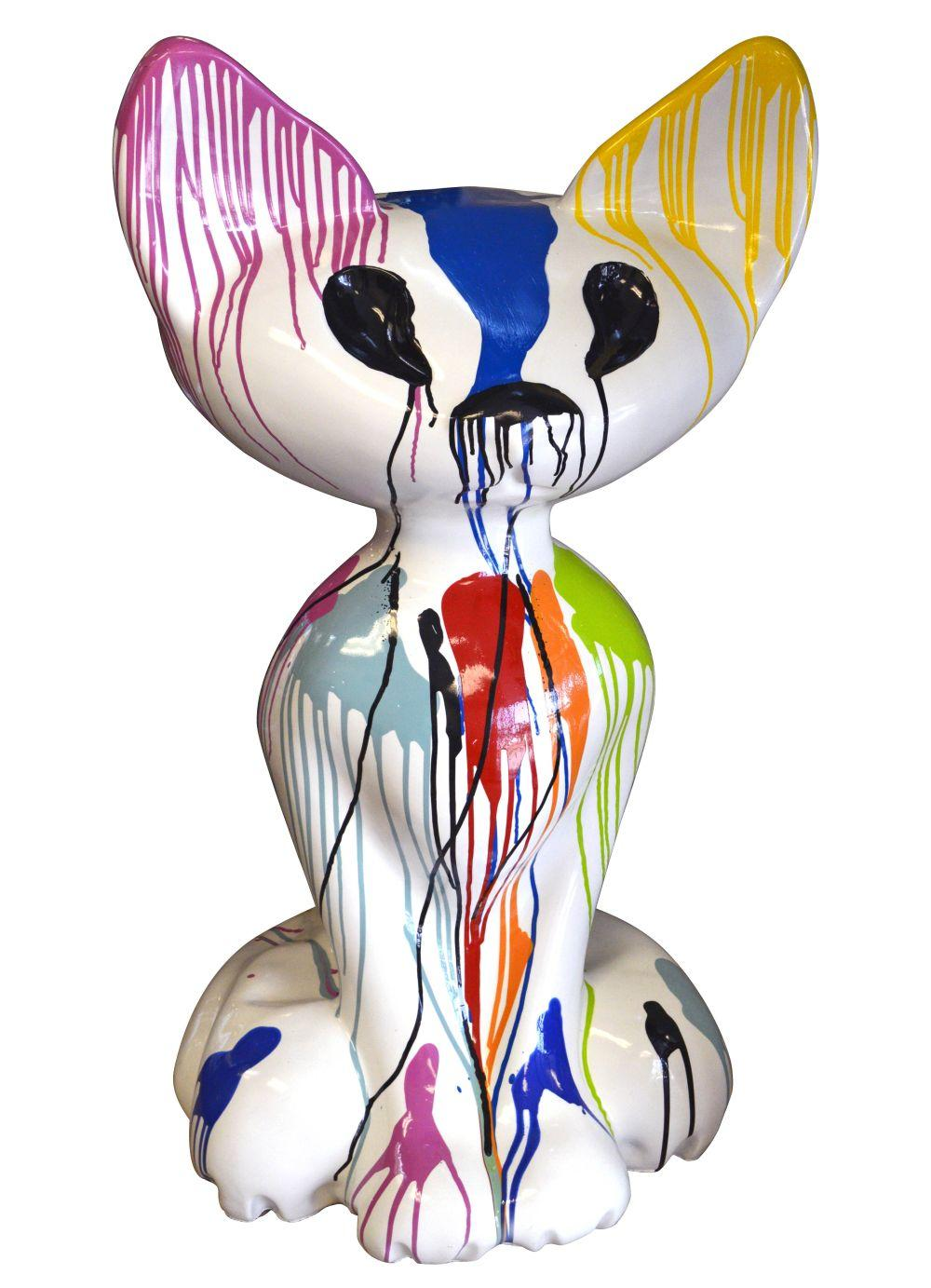 Whimsical polychrome sculpture