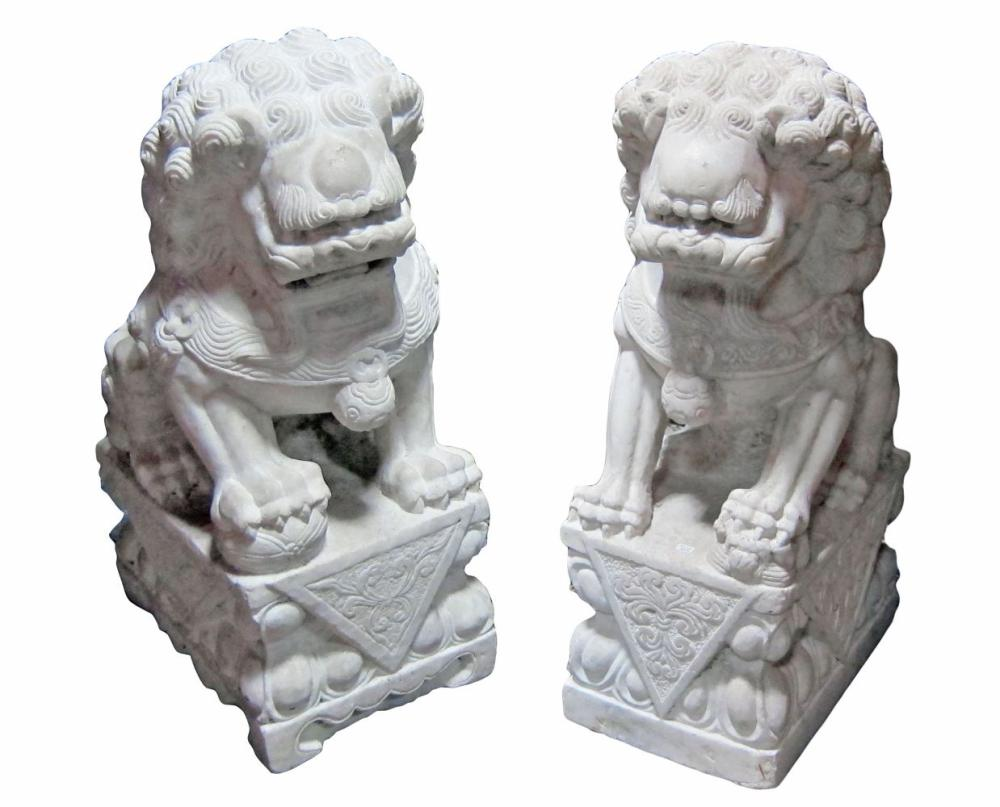 Pair of Chinese stone sculptures