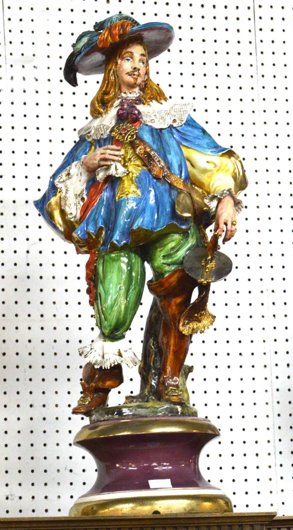 Porcelain musketeer figure