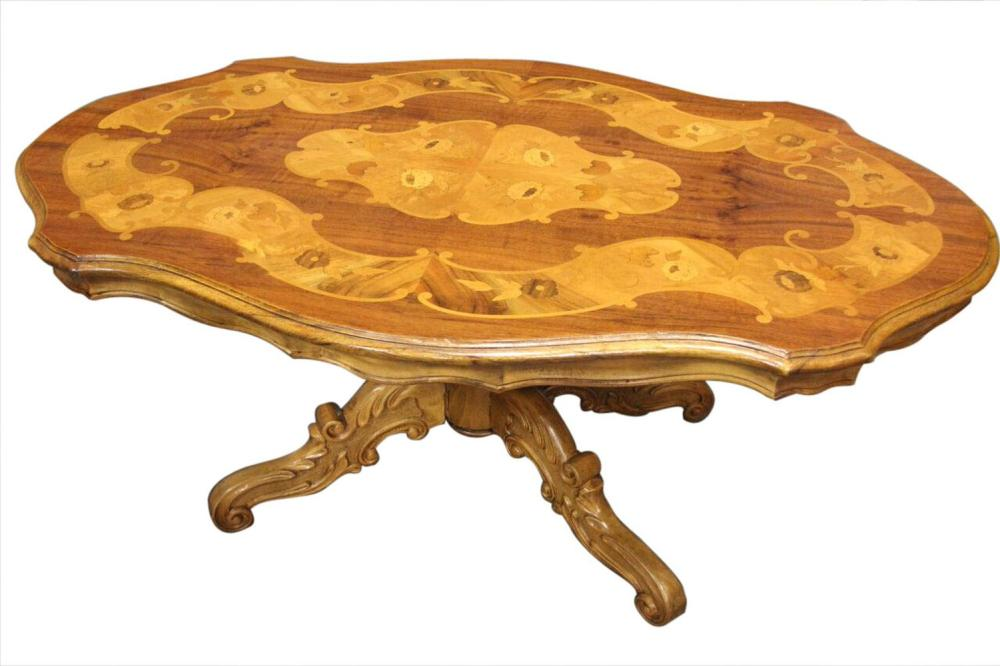 Turtle-top coffee table