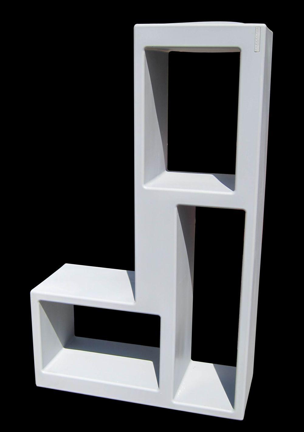 Modular polyethylene bookcase