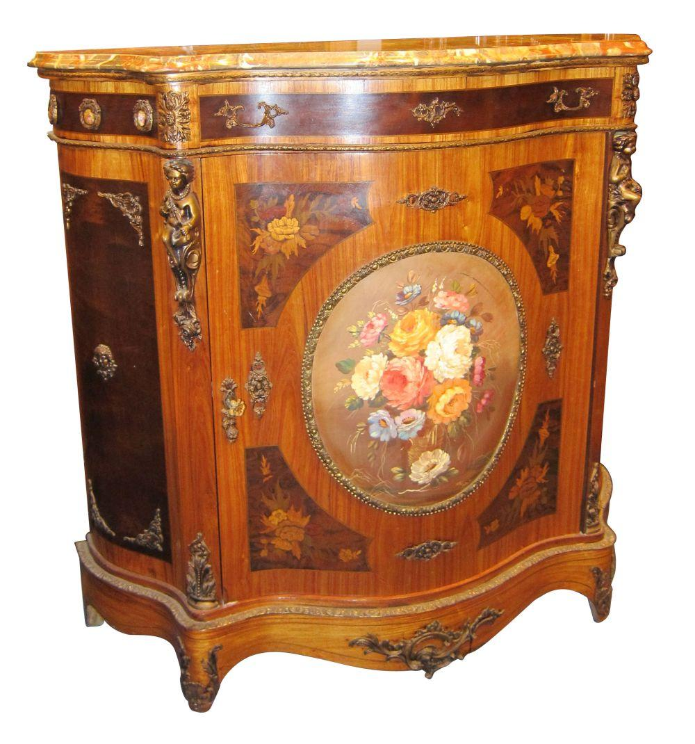 Serpentine-front commode