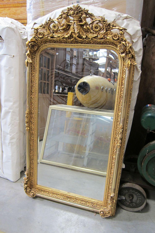 Giltwood-framed mirror