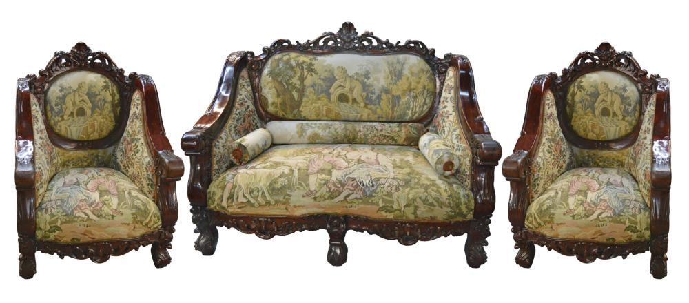 Florentine 3-piece mahogany salon set