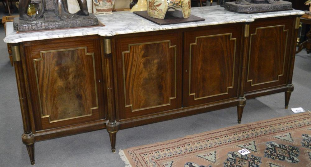 Marble-top buffet
