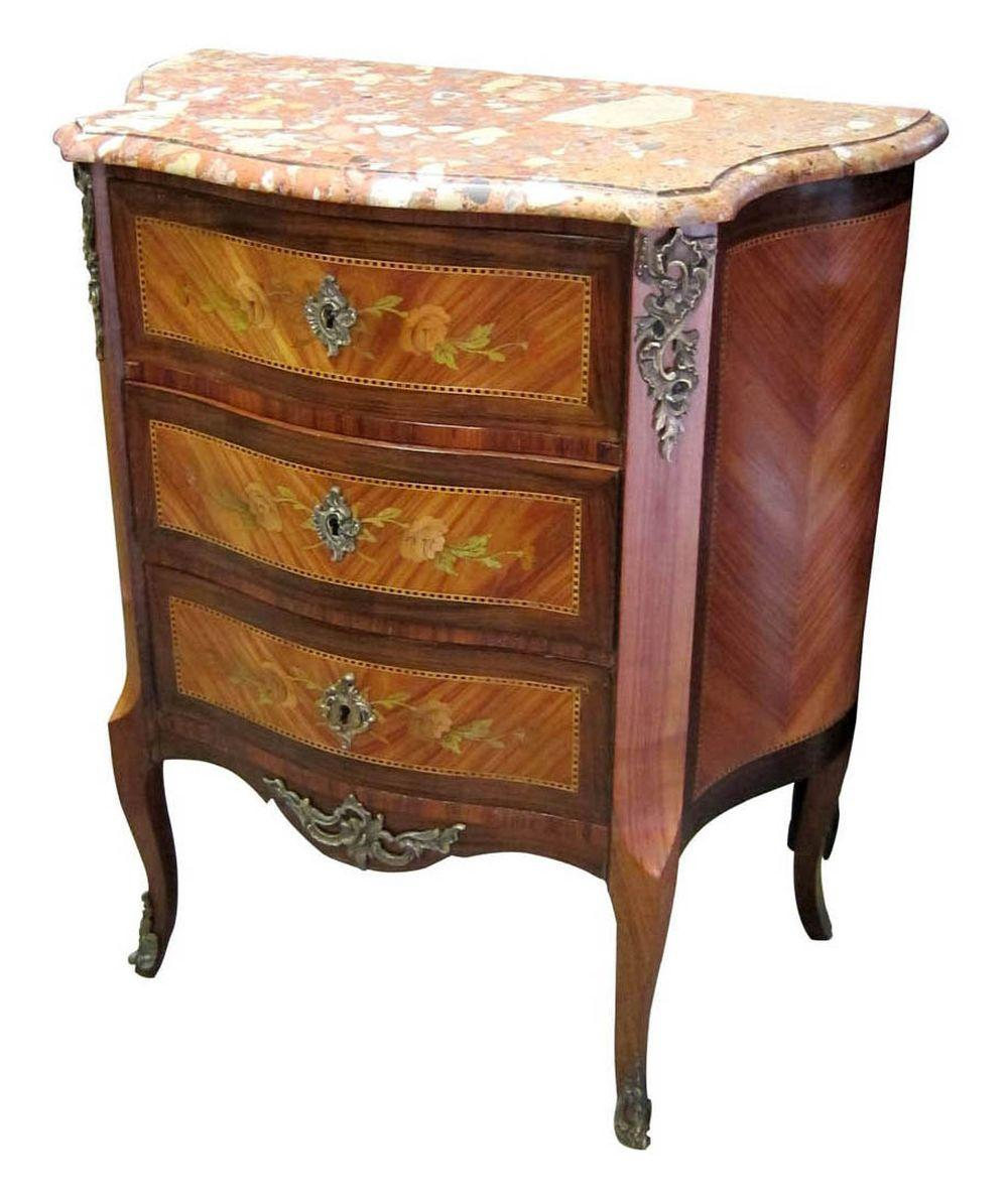 Small marble top commode