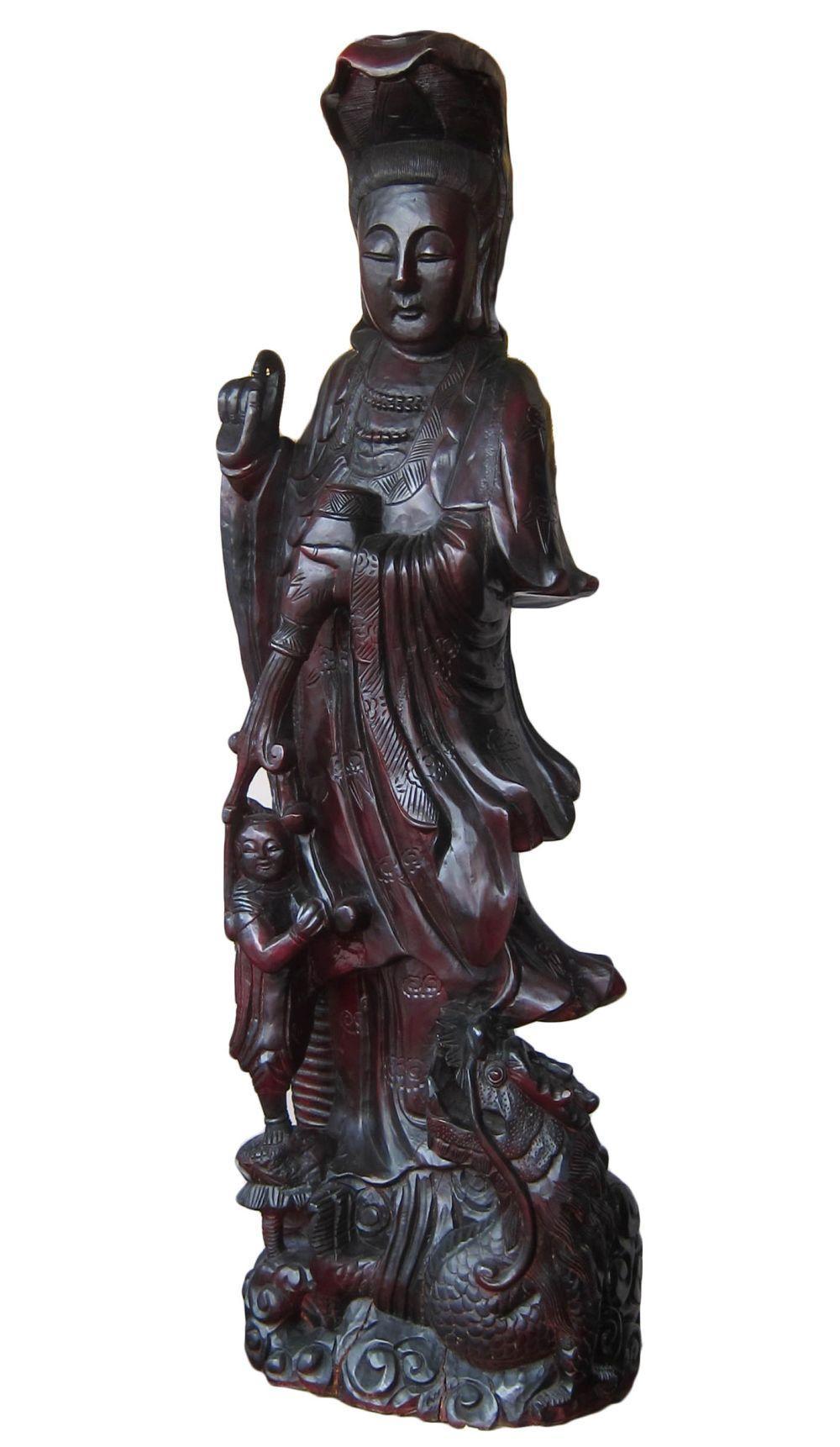 Vintage Chinese wood carving