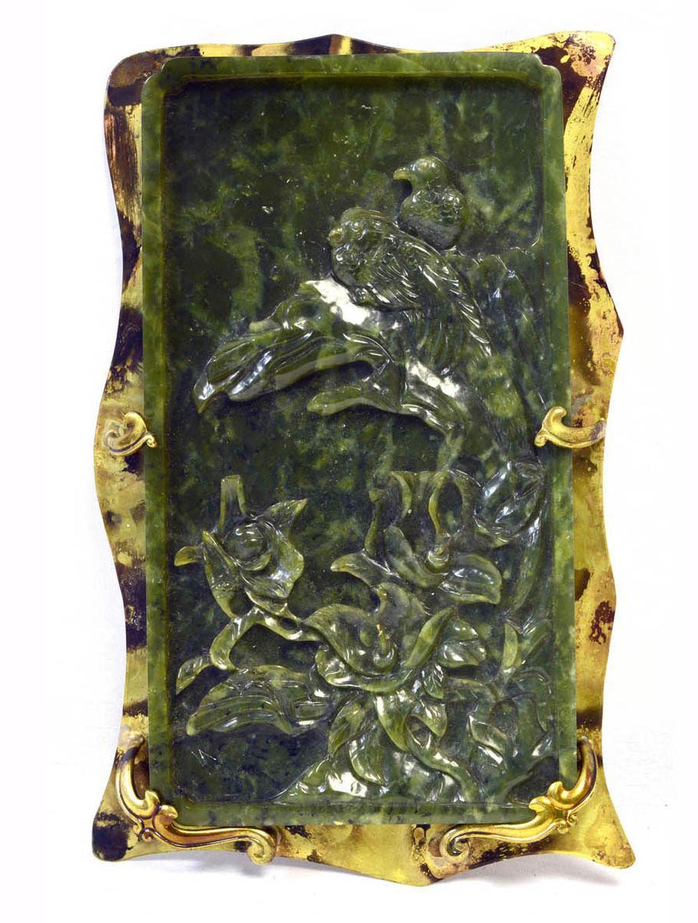 Antique Chinese jade panel