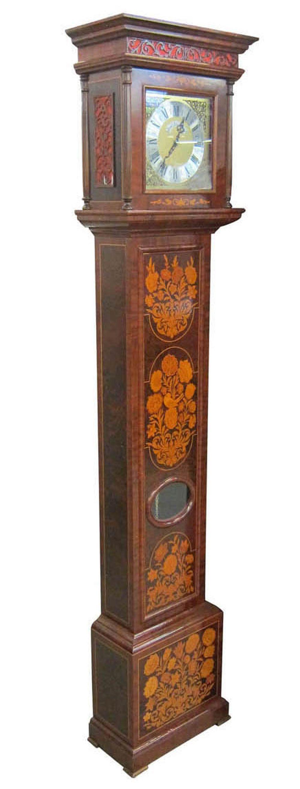 Antique Dutch grandfather clock