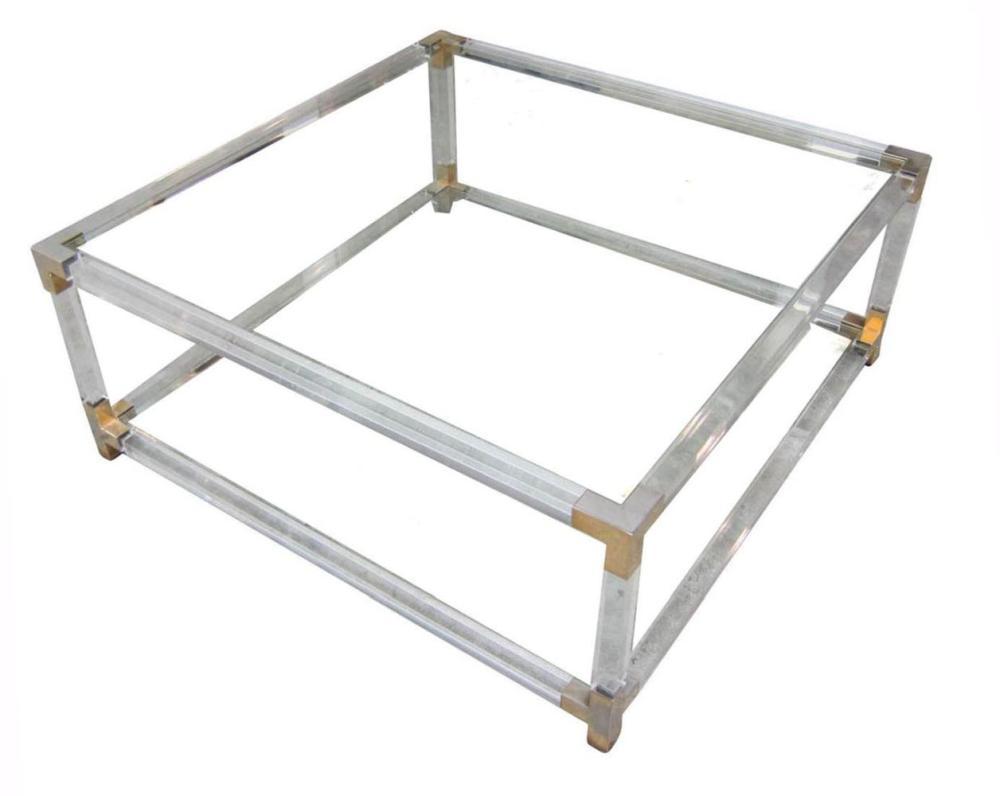 Italian design rectangular salon table;