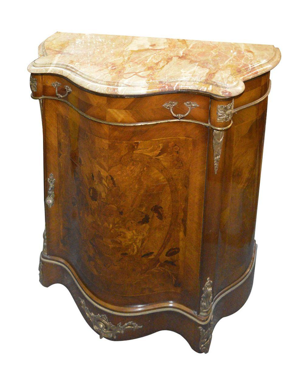 Louis XV-style serpentine-front console