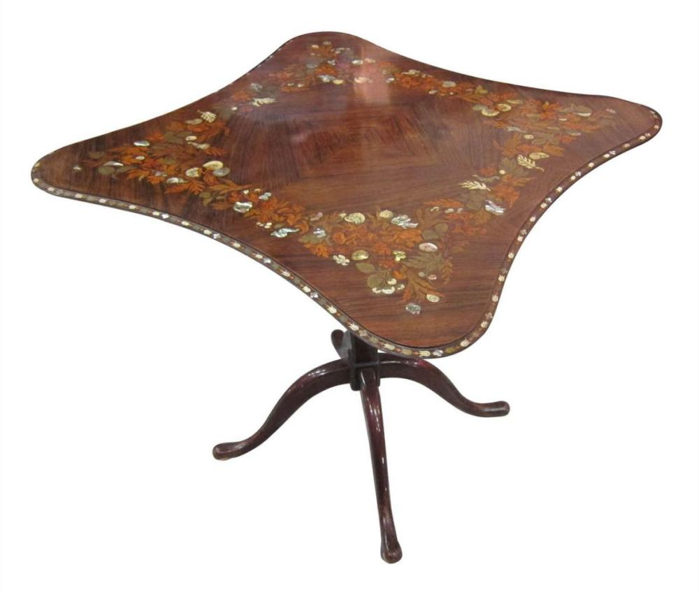 Art-Nouveau-style rosewood table