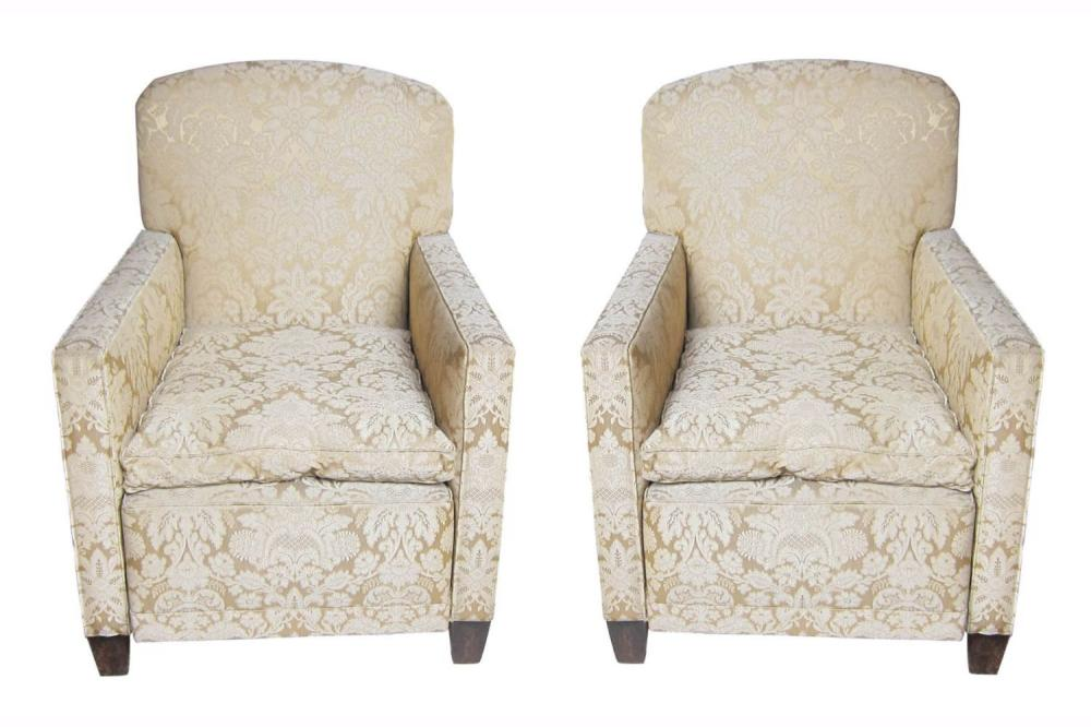 Pair of vintage French armchairs
