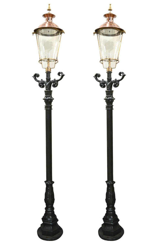 Pair of street lamps