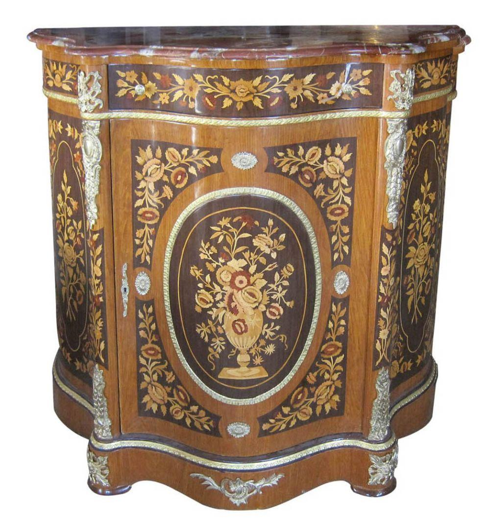 Louis XV-style marble-top console
