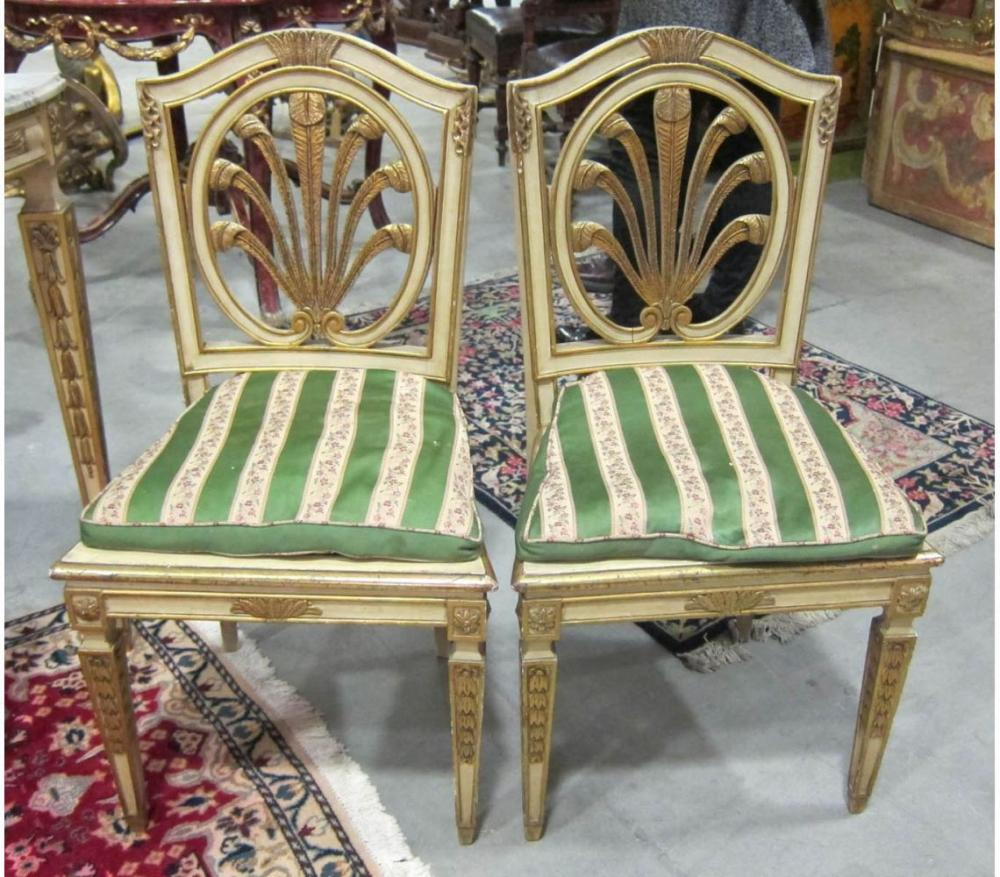 Pair of carved chairs
