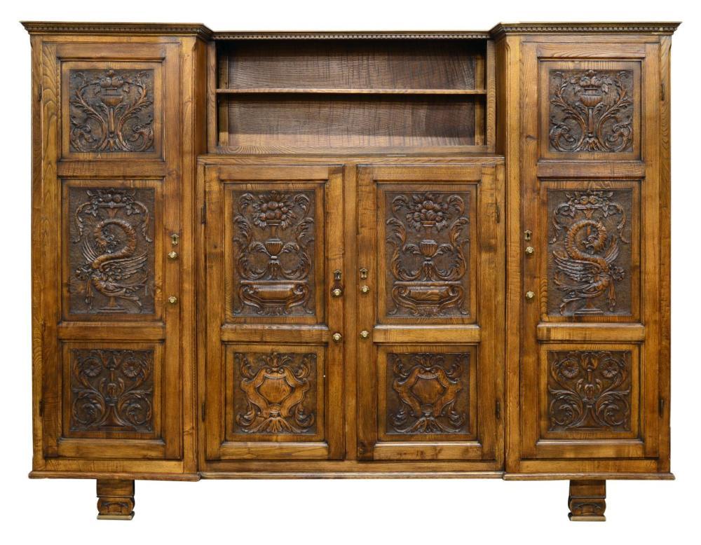 Antique Italian oak cabinet