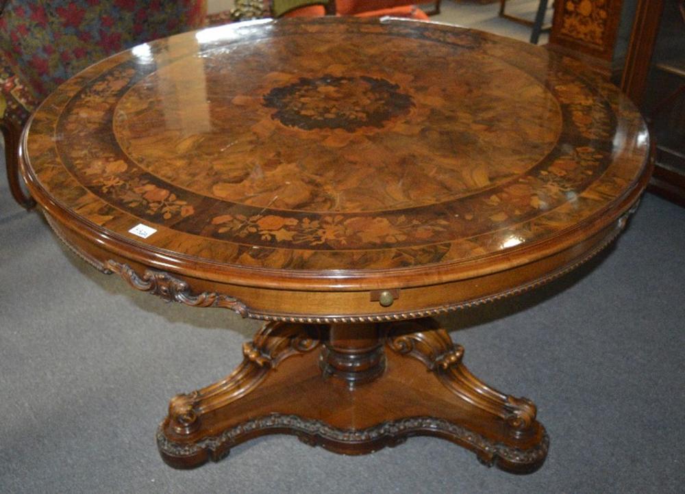 Vintage Italian circular center table