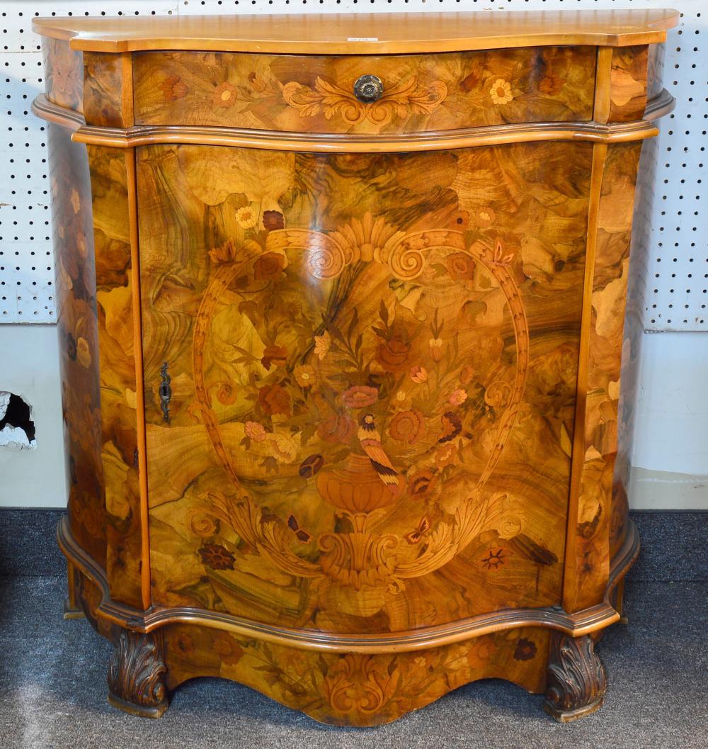 Vintage Italian burlwood console