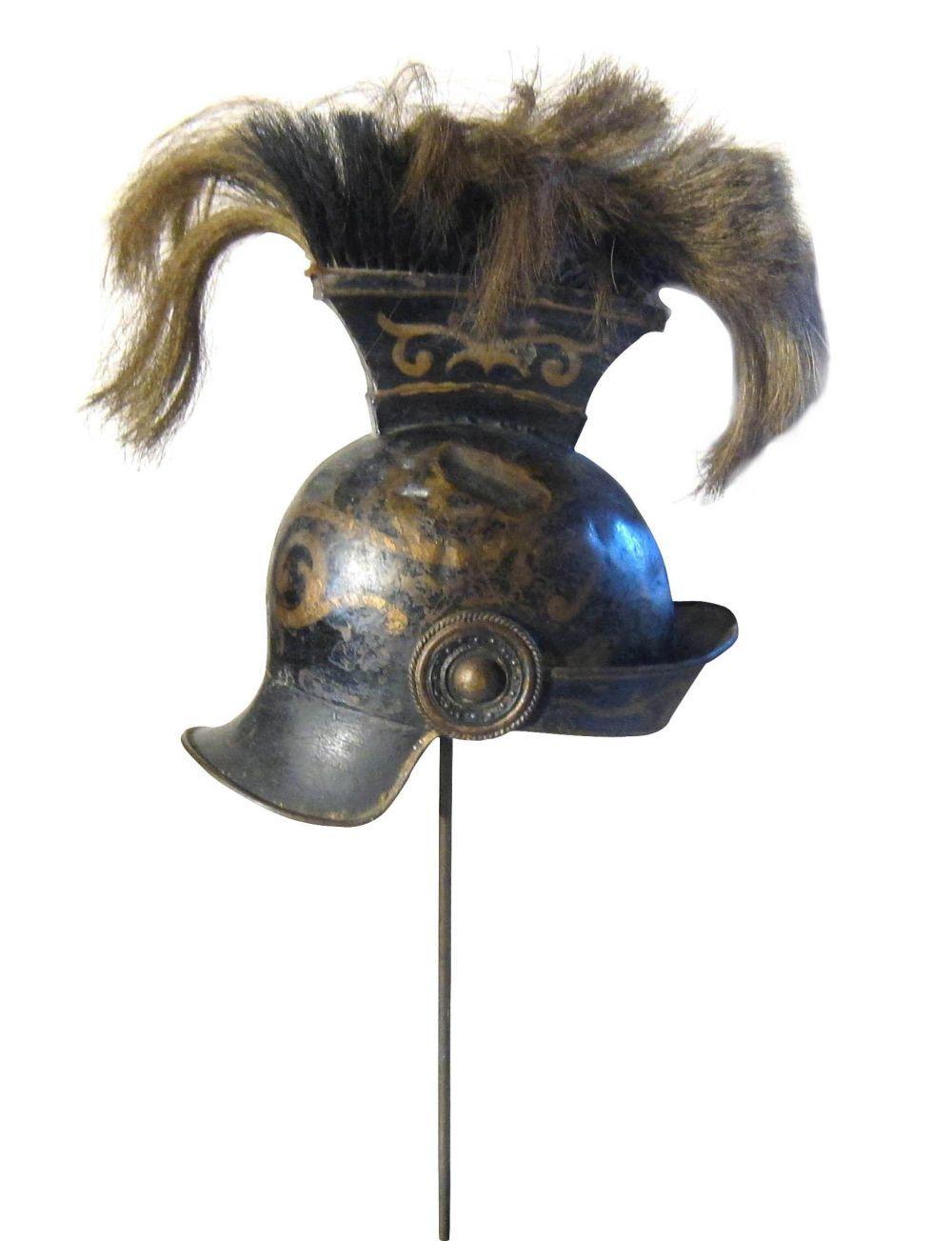 Antique French iron helmet