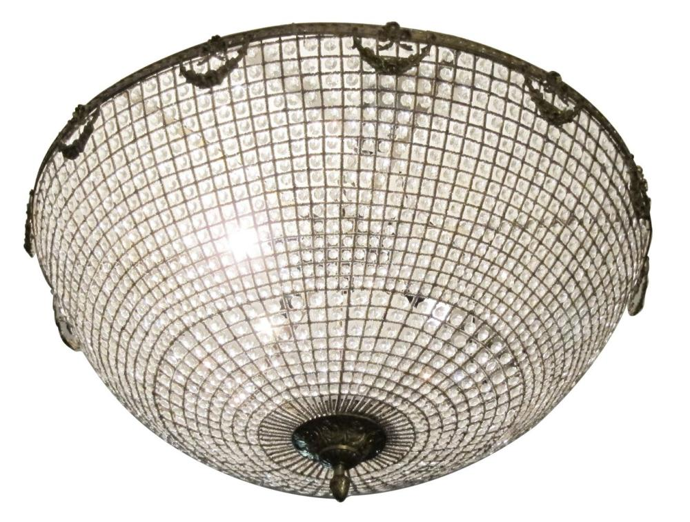 Versailles-style crystal hanging fixture