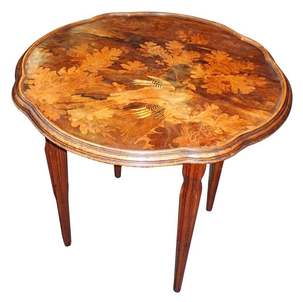 Émile Gallé Art Nouveau salon table