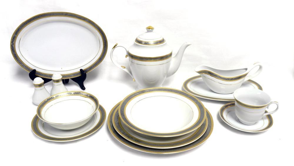 94 piece porcelain dinner service