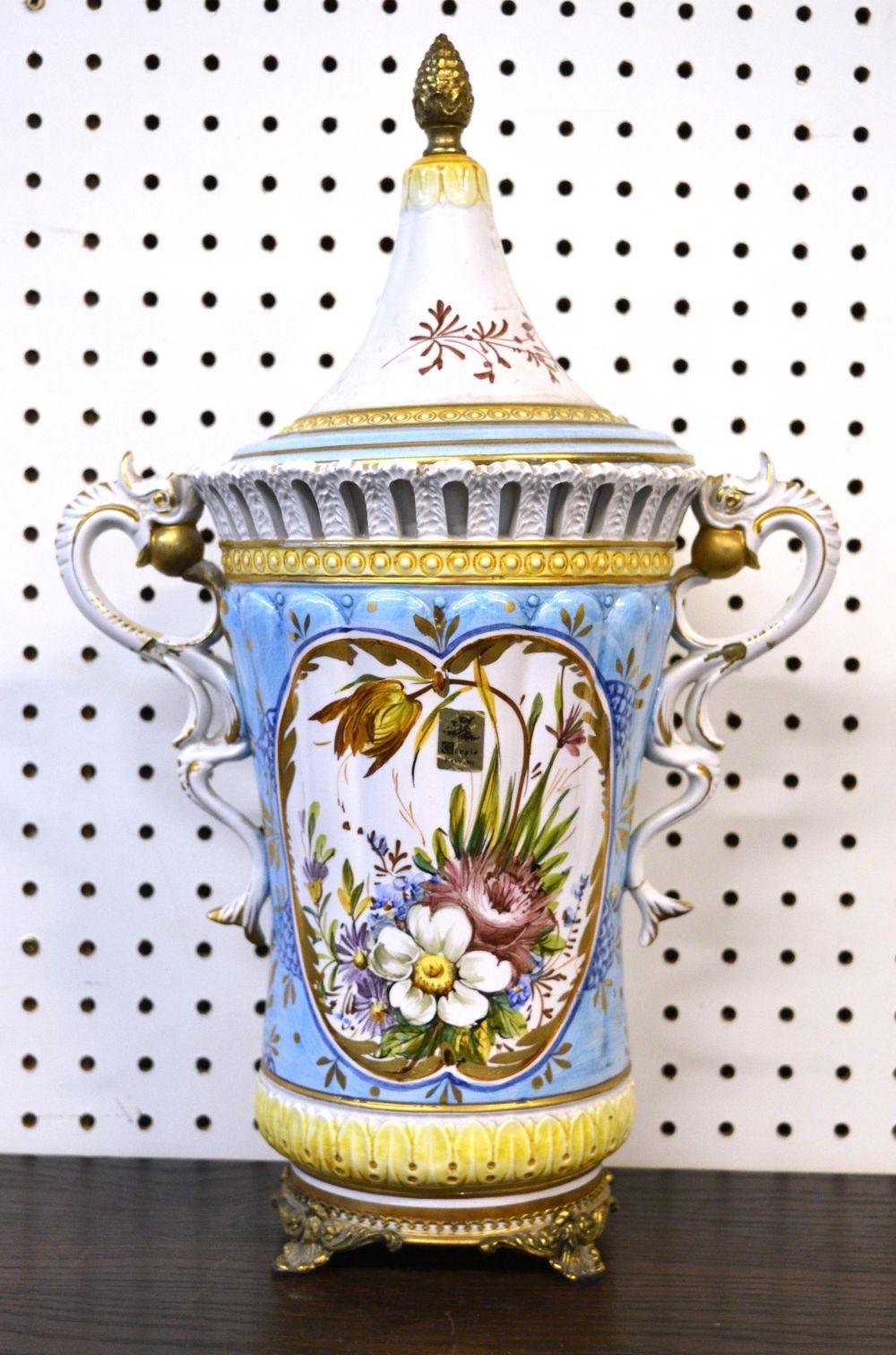 Vintage Capodimonte porcelain vase