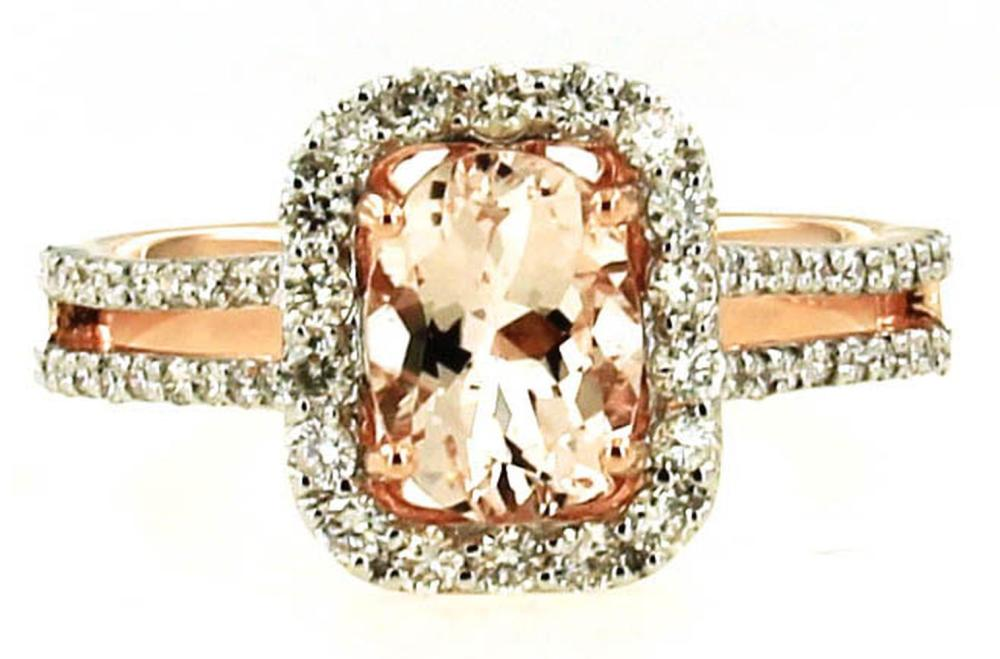 Lot 407: Morganite 1.30 carat