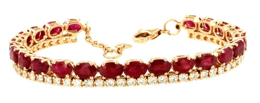 Lot 422: Enhanced rubies 13.25 carats