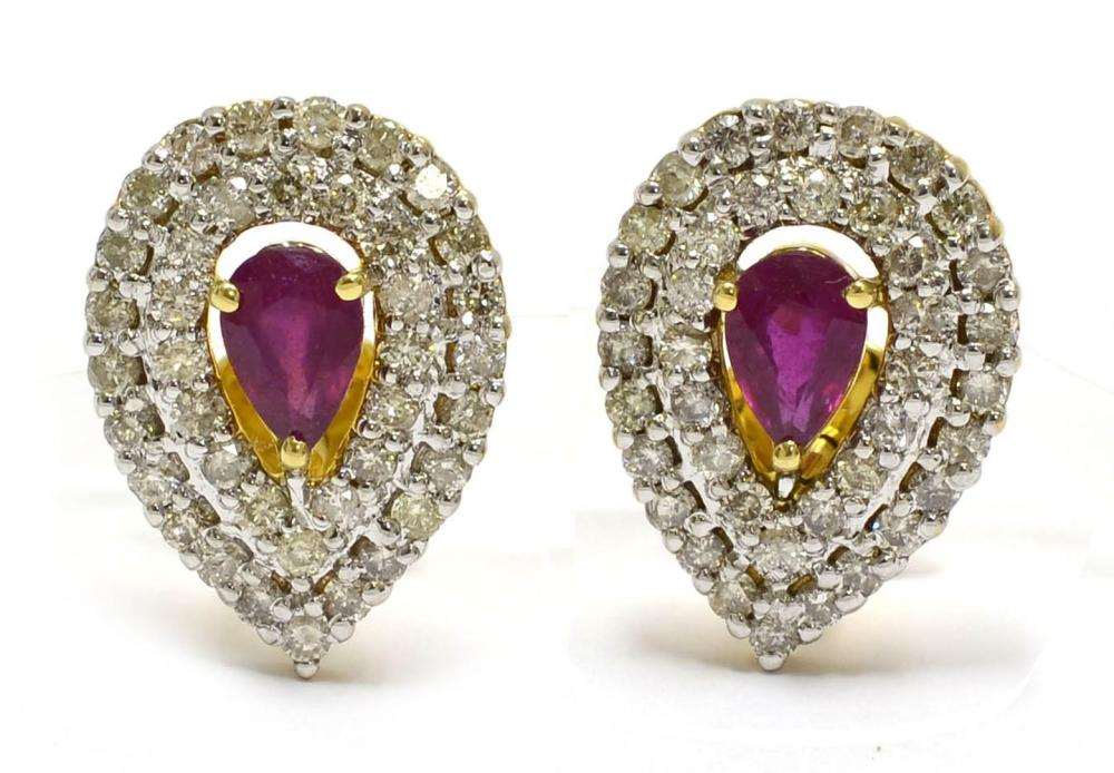 Lot 448: Enhanced rubies 1.05 carats