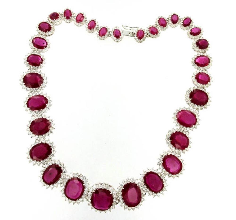 Lot 442: Enhanced rubies 110.50