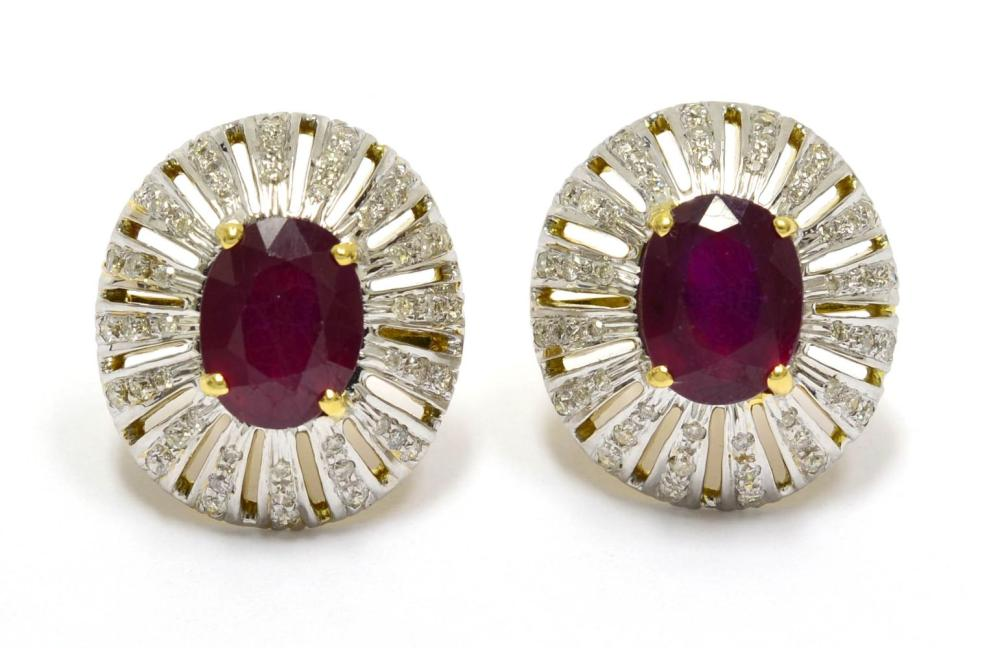 Lot 479: Enhanced rubies 6.00 carats